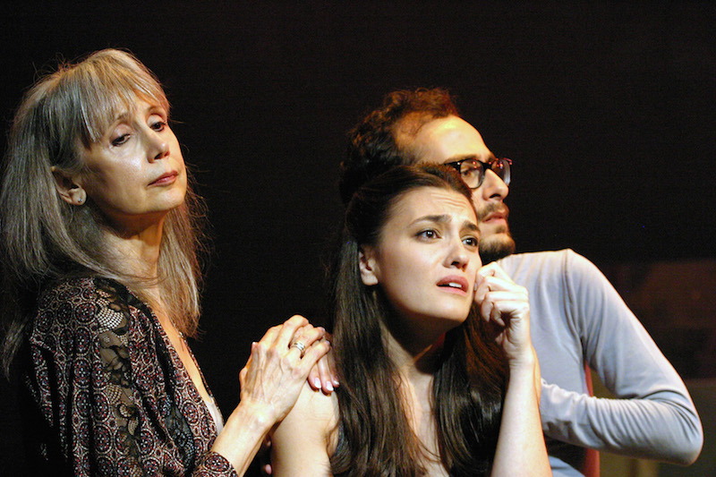 Susan Kohler, Miyuki Miyagi, and Michael Yapujian in Jacques Brel is Alive and Well and Living in Paris at the Odyssey Theatre. (Photo by Enci Box.)