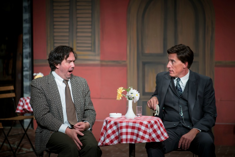 Keith Stevenson and Alex Fernandez in Rhinoceros at Pacific Resident Theatre (Photo by Vitor Martins)