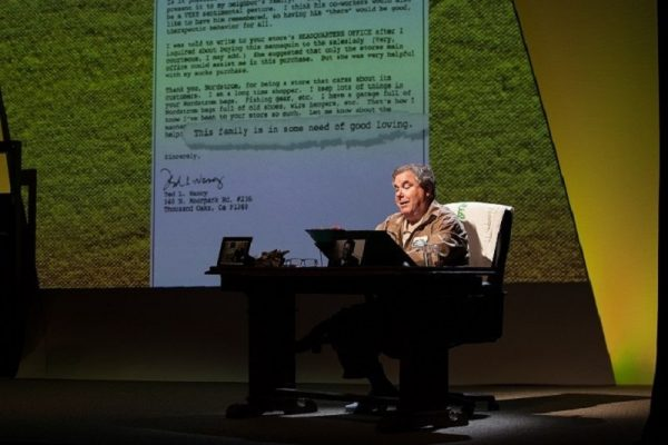 Ted L. Nancy in Letters from a Nut at the Geffen Playhouse. (Photo by Chris Whitaker.)