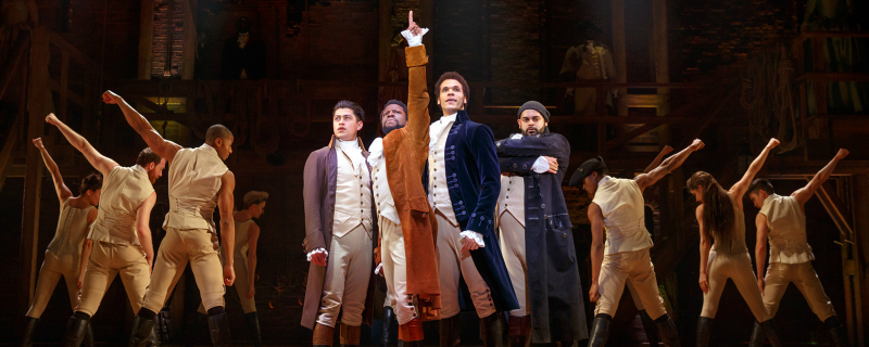The cast of Hamilton. (Photo courtesy of the Pantages)