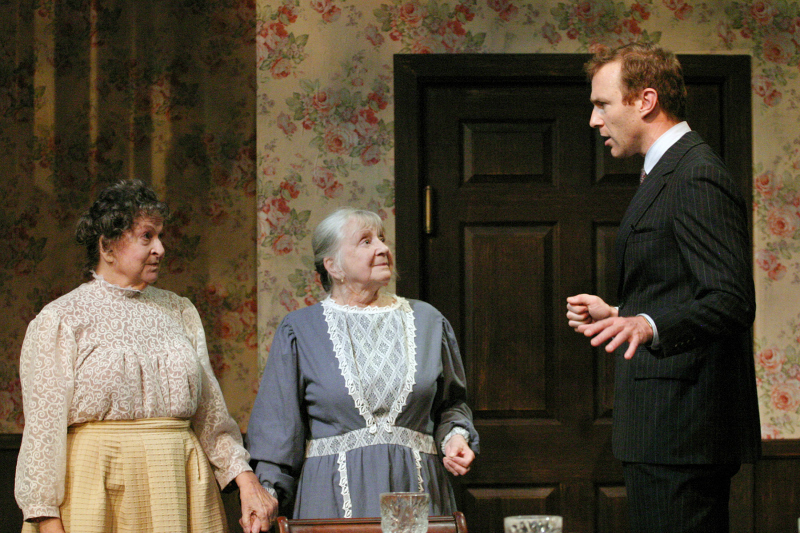 Jacque Lynn Colton, Sheelagh Cullen, and J.B. Waterman in Arsenic and Old Lace at the Odyssey Theatre. (Photo by Enci Box)