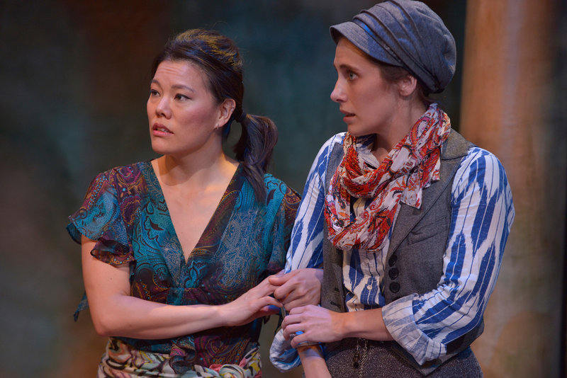 Desiree Mee Jung and Sally Hughes in As You Like It at the Antaeus Theatre Company. (Photo by Daniel G. Lam Photography)