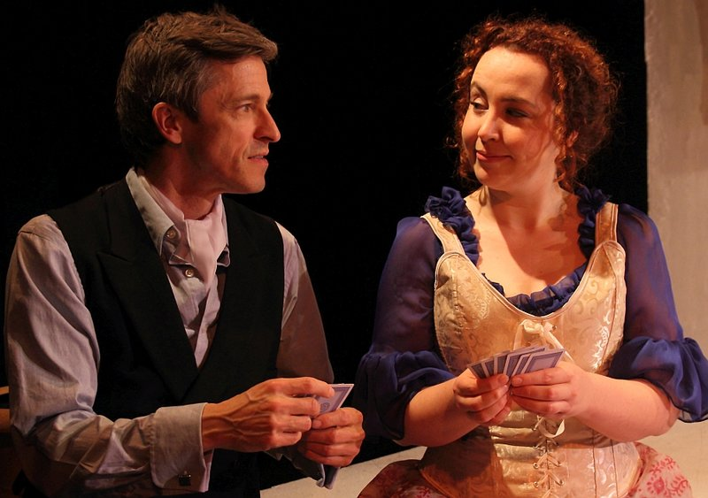 Sammi Smith and Marc Forget in Emilie: La Marquise du Chatelet Defends Her Life Tonight at Greenway Court Theatre. (Photo by John Klopping)