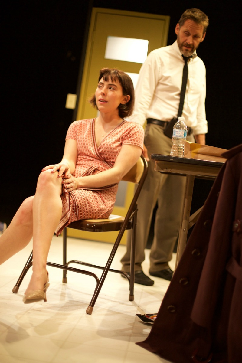 Candace Hammer and Eric Larsen in Blackbird at Grove Theatre Center. (Photo by Jess Nurse)