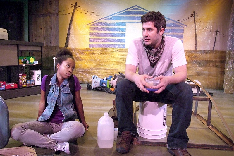 Camille Spirlin and Brian Tichnell in Runaway Home at the Fountain Theatre. (Photo by Ed Krieger)