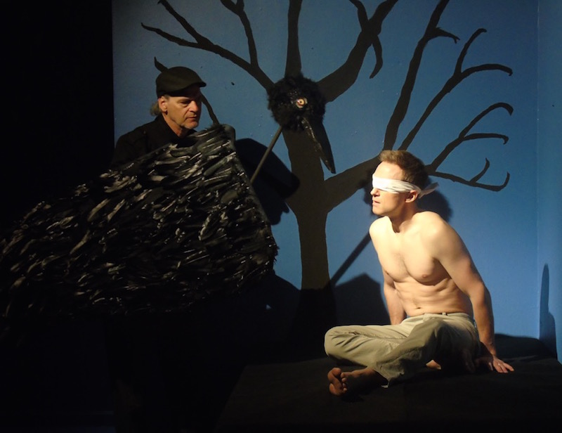 Edgar Allan Poe IV and Joshua James Knightly in Afterlife: A Ghost Story, Collaborative Artists Ensemble at Avery Schreiber Playhouse. (Photo: Courtesy Collaborative Artists Ensemble)