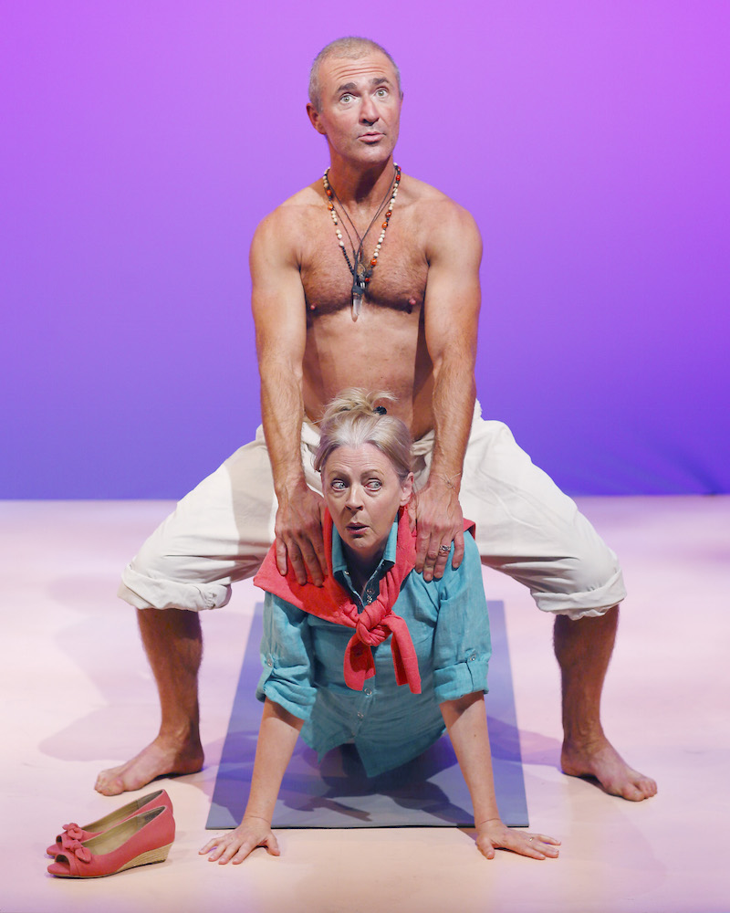 Paul Tassone and Ros Gentle inGrey Nomad at the Skylight Theatre. (Photo by Adrian Wlodarczyk)
