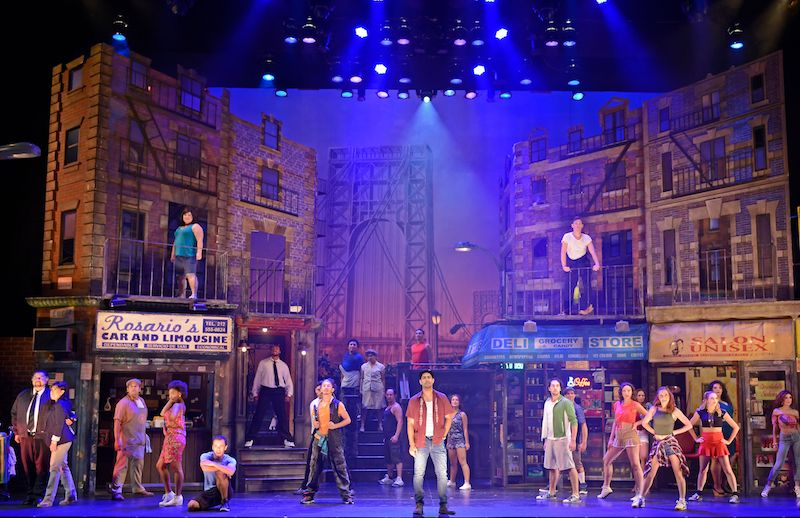The ensemble in In the Heights at Musical Theatre West. (Photo by In the Moment Photography)