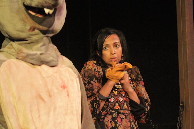 Kevin Comartin and Sharmila Devar in Mice, Ensemble Studio Theatre at Atwater Village Theatre. (Photo by Youthana Yuos)