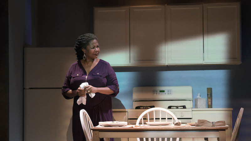 Tonya Pinkins in Time Alone at The Los Angeles Theatre Center. (Photo by David Morrison)