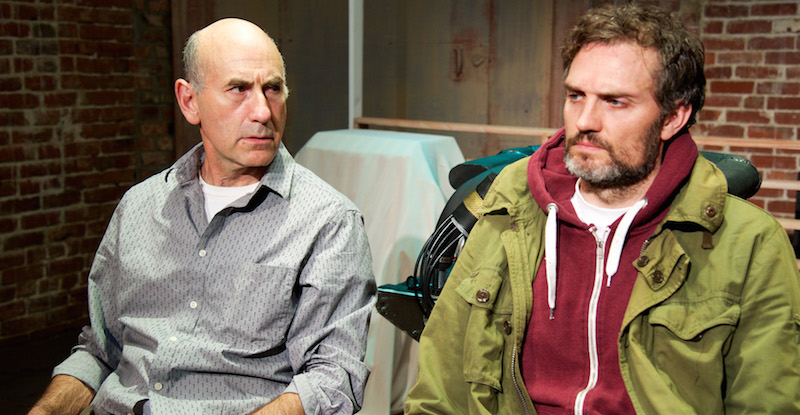 James Eckhouse and Graham Sibley in Redline at IAMA Theatre Company. (Photo by Dean Cechvala)