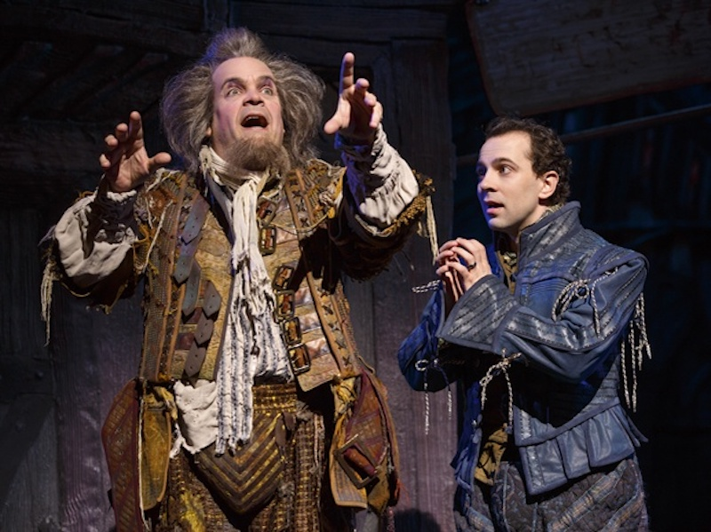 Brad Oscar and Rob McClure in Something Rotten! at the Ahmanson Theatre. (Photo by Jeremy Daniel)