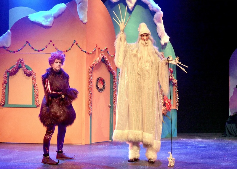 Matt Walker and Beth Kennedy in How The Princh Stole Christmas! from Troubadour Theatre Company. (Photo by Ed Krieger)