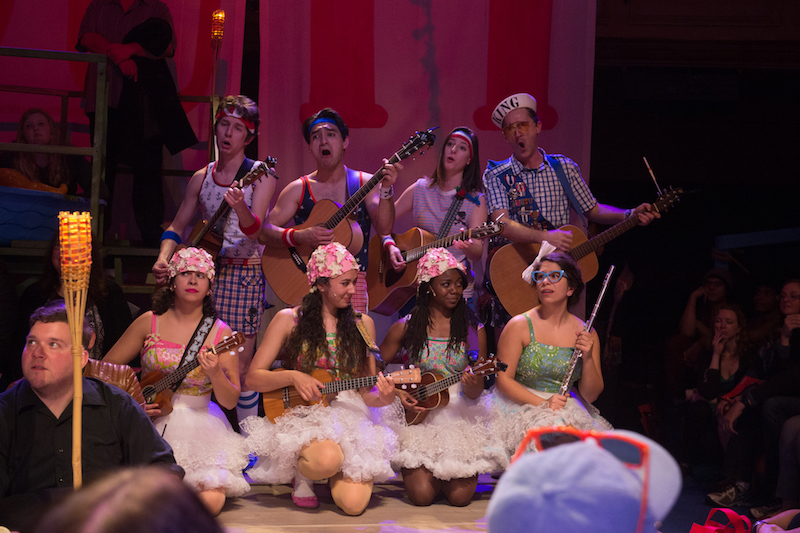 The ensemble of Pirates of Penzance at the Pasadena Playhouse. (Photo by Jenny Graham)