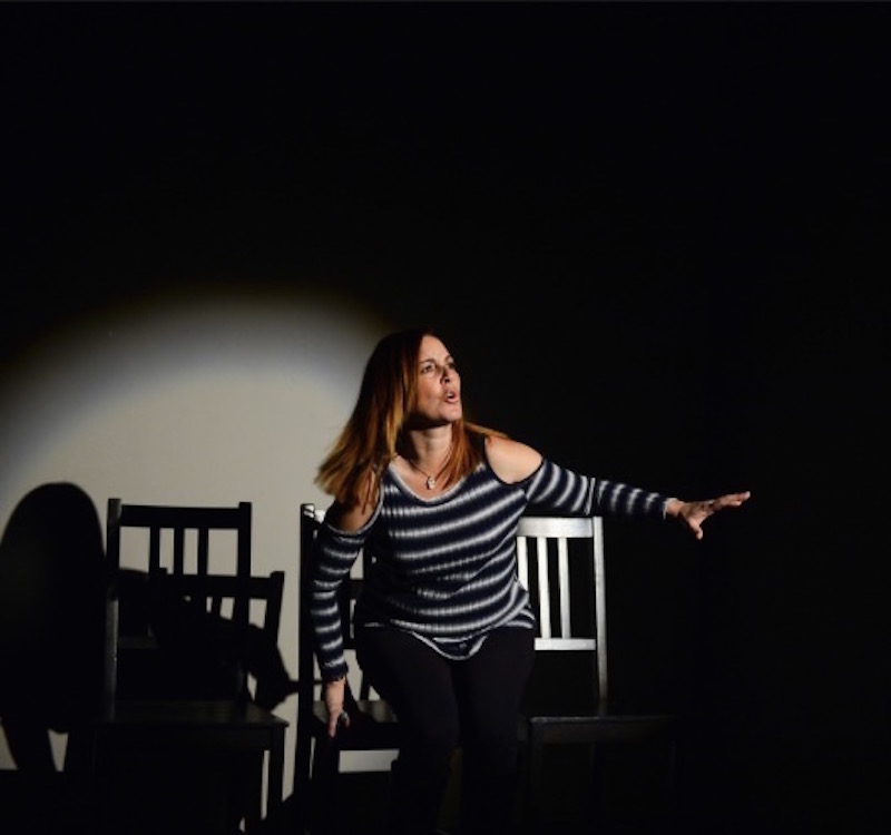 Pam Levin in Tales of Modern Motherhood: This Sh*t Just Got Real at the Whitefire Theatre. (Photo by Cooper Bates)