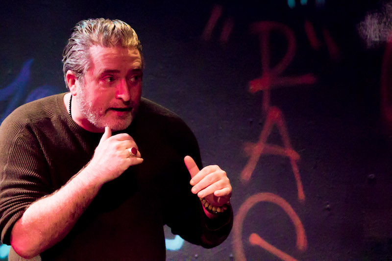 Jerry Dean in My Father's a Cop a the Lounge Theatre. (Photo by Matt Kimimura)